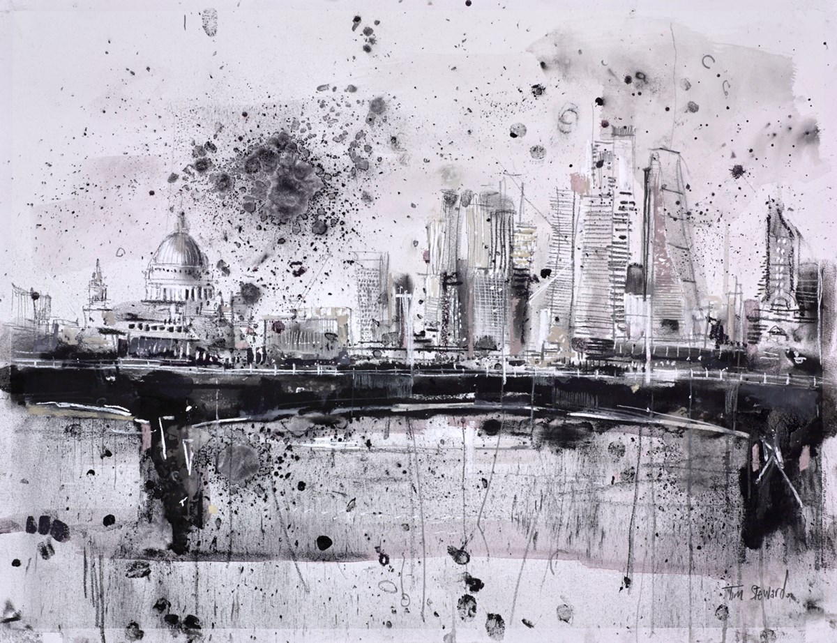 Waterloo Bridge, London by tim steward -  sized 26x20 inches. Available from Whitewall Galleries
